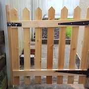 Pair of 6ft x 4ft Picket Gates Rear View