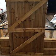 6ft x 4ft Gate Rear View