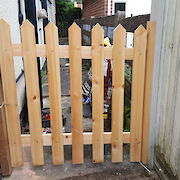 4ft x 4ft Picket Gate Rear View