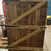 6ft x 4ft Three Hinge Gate Rear View