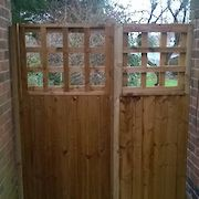 Featheredge and Trellis Combination Gate