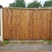 Pair of 6ft x 4ft Featheredge Gates, Front